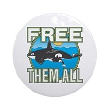 Free Them All(Whales) Ornament (Round)