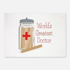 Worlds Greatest Doctor 5'x7'Area Rug