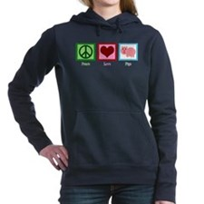 Peace Love Pigs Women's Hooded Sweatshirt
