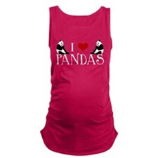 I Heart Pandas Maternity Tank Top