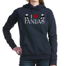 I Heart Pandas Women's Hooded Sweatshirt