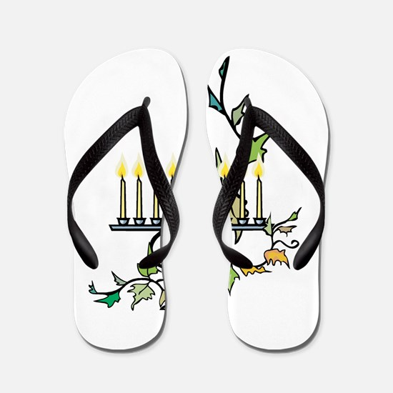 ivy wrapped around Chanuka Menorah.png Flip Flops