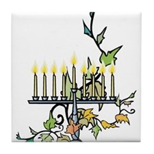 ivy wrapped around Chanuka Menorah.png Tile Coaste