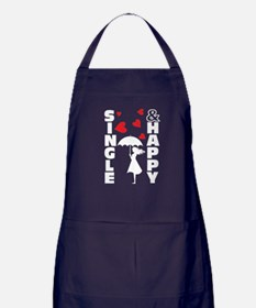 single and happy Apron (dark)