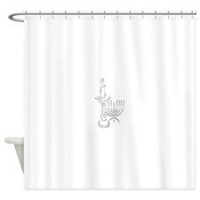 menorah and candle.png Shower Curtain