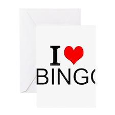 I Love Bingo Greeting Cards