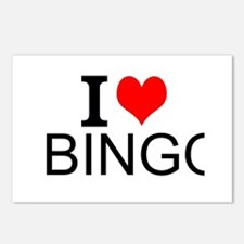 I Love Bingo Postcards (Package of 8)
