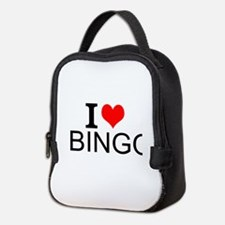 I Love Bingo Neoprene Lunch Bag