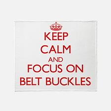 Unique Belt buckle Throw Blanket