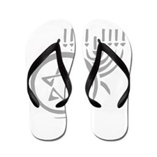 Star of David and Menorah.png Flip Flops