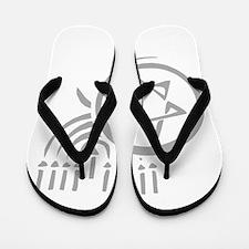 Star of David and Menorah.png Flip Flops