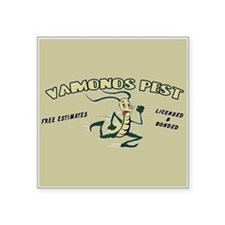 "Vamonos Pest Square Sticker 3"" x 3"""