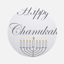 Menorah Happy Chanukah.png Ornament (Round)