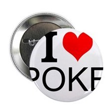"""I Love Poker 2.25"""" Button (100 pack)"""