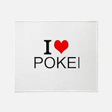 I Love Poker Throw Blanket