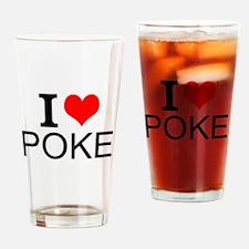 I Love Poker Drinking Glass