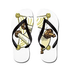 scroll for the sabbath.png Flip Flops