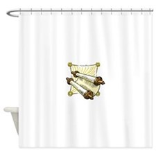 scroll for the sabbath.png Shower Curtain