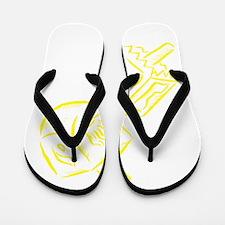 yellow dreidels Happy Hannukka.png Flip Flops