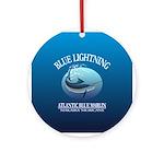 Blue Lightning Ornament (Round)