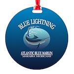 Blue Lightning Ornament