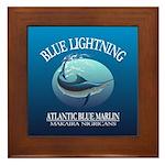 Blue Lightning Framed Tile