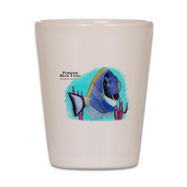 Powder Blue Tang Shot Glass by WildlifeArts3