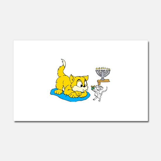 mouse teaching cat about hannukkah.png Car Magnet