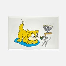 mouse teaching cat about hannukkah.png Magnets