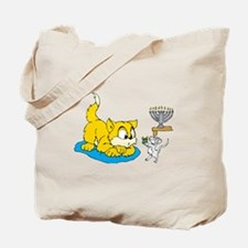 mouse teaching cat about hannukkah.png Tote Bag