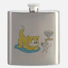 mouse teaching cat about hannukkah.png Flask