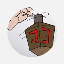 hand spinning the dreidel.png Ornament (Round)