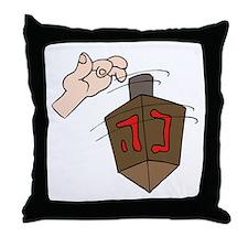 hand spinning the dreidel.png Throw Pillow