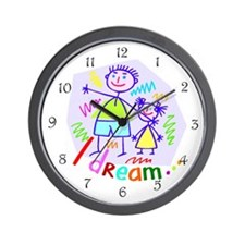 Spending Time with Dad Wall Clock