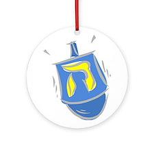 blue dreidel.png Ornament (Round)