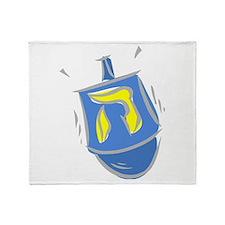 blue dreidel.png Throw Blanket