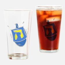blue dreidel.png Drinking Glass