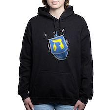 blue dreidel.png Women's Hooded Sweatshirt
