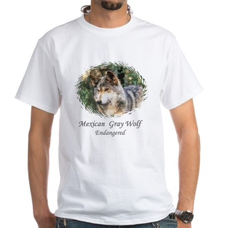 MEXICAN GRAY WOLF - ENDANGERE White T-Shirt