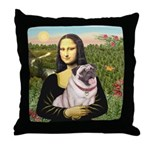 Mona's Fawn Pug (#2) Throw Pillow