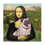 Mona's Fawn Pug (#2) Tile Coaster