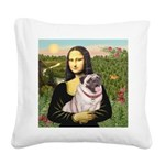 Mona's Fawn Pug (#2) Square Canvas Pillow
