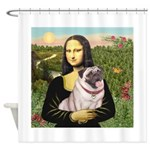Mona's Fawn Pug (#2) Shower Curtain