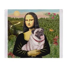 Mona's Fawn Pug (#2) Throw Blanket