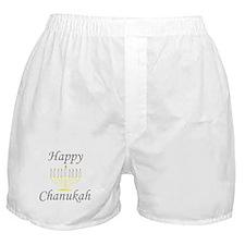 happy Chanukah with Menorah.png Boxer Shorts