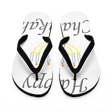 happy Chanukah with Menorah.png Flip Flops