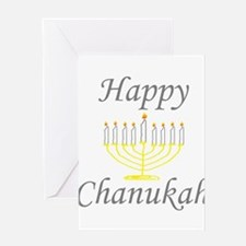 happy Chanukah with Menorah.png Greeting Cards