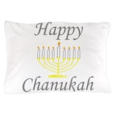 happy Chanukah with Menorah.png Pillow Case