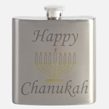 happy Chanukah with Menorah.png Flask
