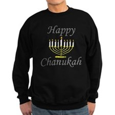 happy Chanukah with Menorah.png Jumper Sweater